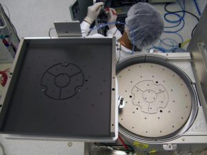 300mm wafer heating and cooling module top view with wafer cooling module move for service