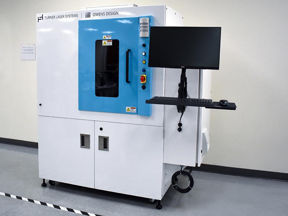 Laser machine/tool built by Turner Laser Systems and Owens Design